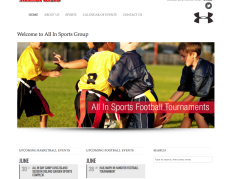 Recent Work – All In Sports Group WordPress Website